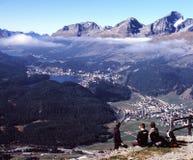 St. Moritz en Severino Royalty-vrije Stock Afbeelding