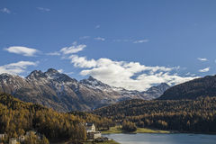 St. Moritz lake Stock Photos