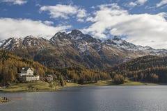 St. Moritz lake Royalty Free Stock Photos
