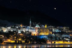 St.Moritz by night Stock Image