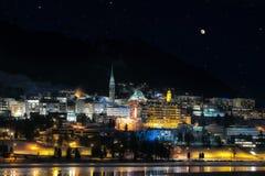 St.Moritz by night Stock Image