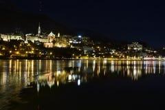 St Moritz por noche Imagen de archivo libre de regalías