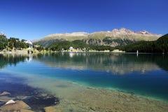 St Moritz See Stockbilder