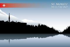 St. Moritz skyline Stock Images