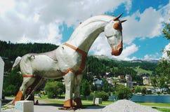 St Moritz, Svizzera Ricorso alpino Fotografie Stock Libere da Diritti