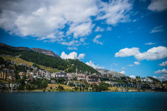 St. Moritz in Switzerland Stock Photo