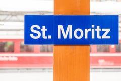 St. Moritz Train Station Imagenes de archivo