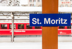 St. Moritz Train Station Fotografía de archivo