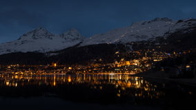 St Moritz uteliv Royaltyfri Fotografi