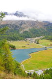 St Moritz valley in Switzerland Stock Image
