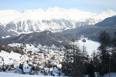 St Moritz in winter Royalty Free Stock Images