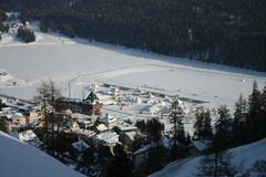 St Moritz in winter Royalty Free Stock Photo