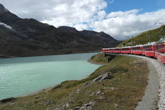 St. Moritzersee, View from the Bernina Express Stock Image