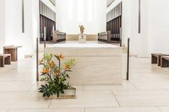 St- Moritzkirche in Augsburg in der minimalistic Art Stockfotografie