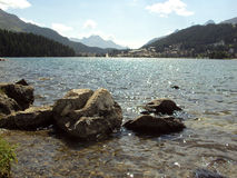 St Mortriz view point. Landscape from St Moritz viewpoint Stock Image