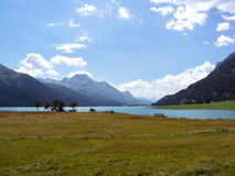 St Mortriz view point. Landscape from St Moritz viewpoint Stock Photography