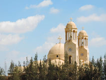 St. Moses Cathedral. Art of St. Moses Cathedral Egypt Royalty Free Stock Images