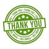st?mpeln tackar dig Grönt emblem för vektor Eps10 stock illustrationer