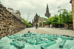 St Mungo`s Cathedral, Glasgow, Scotland, UK. City monument in cloudy weather Royalty Free Stock Images