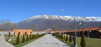 St Naum Monastery em Ohrid foto de stock royalty free