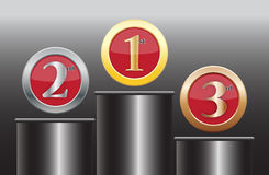 1st 2nd 3rd Icons On Podium Stock Photography