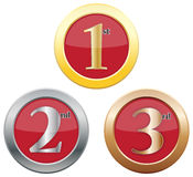 1st 2nd 3rd Place Icons Stock Images