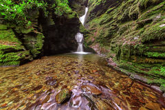 St Nectan's Glen, Tintagel, Cornwall. Stock Images