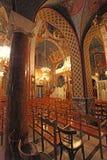 St. Nectaruis Church in Faliraki, Rhodes island, Greece. Stock Images