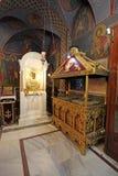St. Nectaruis Church in Faliraki, Rhodes island, Greece. Royalty Free Stock Image