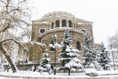 St. Nedelya Church  in the winter Royalty Free Stock Images
