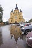 St nevski, de kathedraal van Alexander in nizhny novgorod, Russische federatie stock afbeelding