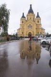 St nevski, de kathedraal van Alexander in nizhny novgorod, Russische federatie royalty-vrije stock afbeeldingen