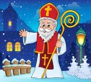 St Nicholas ämnebild 2 vektor illustrationer