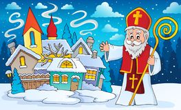 St Nicholas ämnebild 3 vektor illustrationer