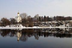 st nicholas скита острова церков Стоковое Изображение