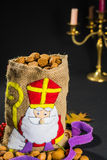 St. Nicholas' bag for children filled with traditional Dutch  sp Stock Photos