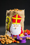 St. Nicholas' bag for children filled with traditional Dutch  sp Stock Images