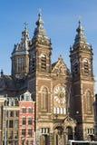 St. Nicholas Basilica in Amsterdam (die Niederlande) Stockbilder