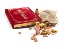 St. Nicholas book with sweets Stock Images