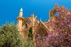 St Nicholas Cathedral, anteriormente Lala Mustafa Mosque Famagusta, Chipre Imagem de Stock