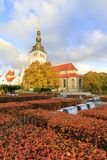 St. Nicholas cathedral in autumn in Tallinn Royalty Free Stock Photo