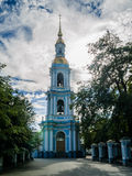 St. Nicholas Cathedral, the bell tower of the Cathedral. Of the summer warm day Stock Photos