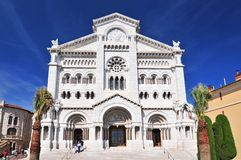 St Nicholas Cathedral, cathédrale du Monaco, Monaco Ville, vieille ville, roche de Le Rocher The, Monaco photos stock