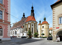 St. Nicholas Cathedral in Ceske Budejovice Stock Photo