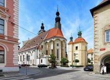 St. Nicholas Cathedral in Ceske Budejovice, Czech Republic Royalty Free Stock Photos