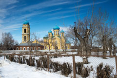 St. Nicholas cathedral church of Verhneuralsk. Stock Photo