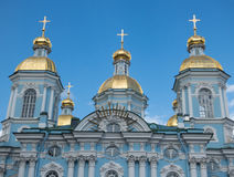 St Nicholas Cathedral de St Petersburg Photos libres de droits