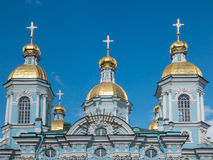 St Nicholas Cathedral de St Petersburg Image stock