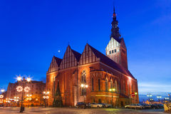 St. Nicholas Cathedral in Elblag Stock Photo