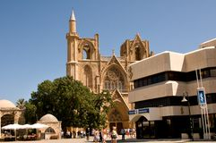 St. Nicholas Cathedral - Famagusta town Royalty Free Stock Images